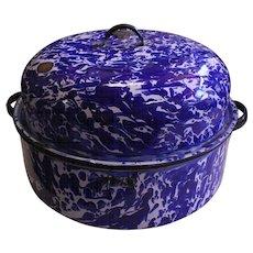 "14"" x 9"" Cobalt Blue Roasting Pan"