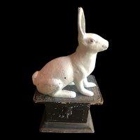 """Cast Iron Bunny Rabbit Hare Door Stop Garden Statue 12"""""""