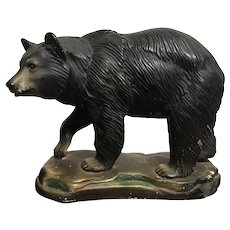 1940's Chalkware Black Bear  8""