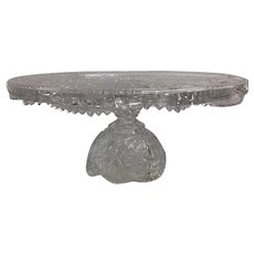 Hofbauer Brydes Crystal Cake Stand Plate