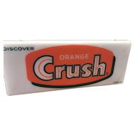 Vintage Collectible Discover Orange Crush Lighted Sign
