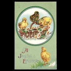 Unsigned Ellen Clapsaddle Easter Series  no 1150 Embossed vintage postcard