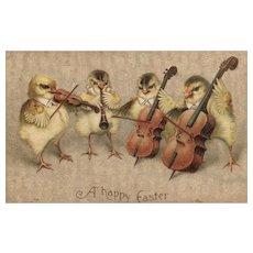 Ellen Clapsadddle International Art Easter Chick Orchestra Band