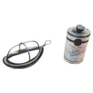 E.R. Squibb Antique Anesthesia Mask and Can of Ether