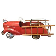 1930's ALL Original Vintage Garton toy pedal Fire truck car