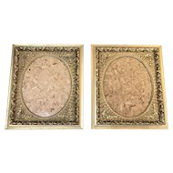 "Rare matching pair of Antique Vintage Victorian Gold Gesso Frames 26"" x 22"" Aesthetic Movement 1850-1899"