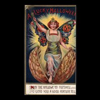 Scarce A Lucky Halloween May the Halloween Nutshell Unto you a Good Fortune Tell