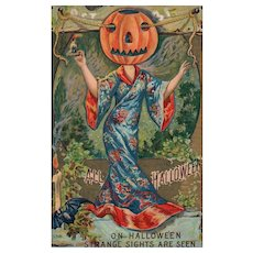 1911 Oh Halloween Strange Sights are Seen Vintage Postcard #552