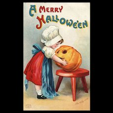 1907 Signed Ellen Clapsaddle  A Merry Halloween Series 1238