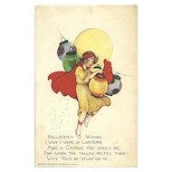 Scarce Samuel Schmucker Halloween Series 100 Woman Paper Lanterns
