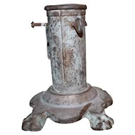 Primitive Vintage Early Cast Iron Christmas Tree Stand by Annin & Co. New York No. Y-2