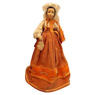 Lenci Vintage collectible felt Cloth boudoir doll 24 inches