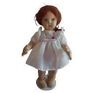 Adorable 11 inch felt Lenci doll