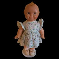 "Adorable 13"" Vintage collectible Kewpie Doll Composition from the 1920-30's"