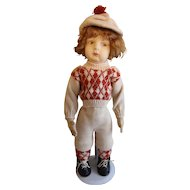 "21"" Alma Felt Boy Vintage Collectible Doll"