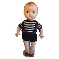 YES-NO Hard Plastic Vintage Collectible Doll from the 1950's 12""