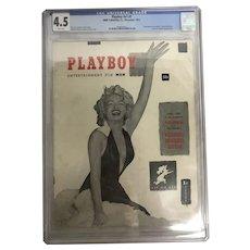 1953 December Playboy V1 #1 CGC Graded 4.5 VG/FN Marilyn Monroe