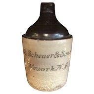 1800's S Schreur & Sons Newark NJ New Jersey Crock
