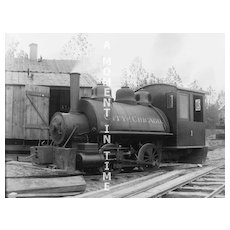 """""""City of Chicago""""  Railroad Train #1 glass Negative"""