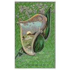 1911 St Patricks Day Vintage Postcard Irish Ireland Embossed