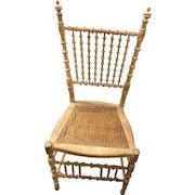 Rare One of a Kind 1900's Primitive Tramp Folk Art Spool Chair