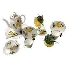 Yellow Rose Tea Set