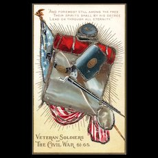 Decoration Day 1 Embossed Veteran Soldiers of the Civil War Patriotic Postcard