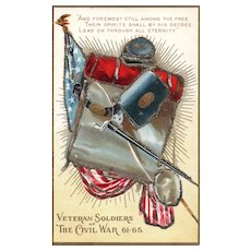 Decoration Day 1 Embossed Veteran Soldiers of the Civil War Patriotic Postcard