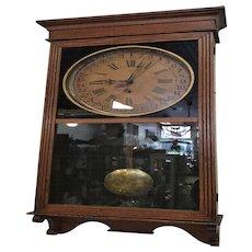 Sessions Antique Calendar Regulator Wall Clock Circa 1910's