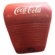 Vintage Mid Century Red Coca-Cola Motiograph Drive In Theatre Automobile Speaker