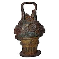 Floral Basket Large Cast Iron Doorstop