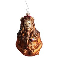 Christopher Radko Wizard Oz Christmas Ornament Cowardly Lion