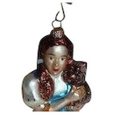 Christopher Radko 1997 Dorothy &Toto Christmas Ornament