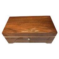 Mid Century 6 Song Swiss wood Music Box Thorens Switzerland 40+ Key