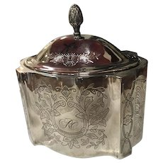 Silver Plate, Etched Decorative Jewelry Ethrog Box