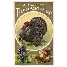 1910 Thanksgiving Turkey Vintage Postcard