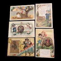 Irresistible Lot of 5 Vintage Thanksgiving Postcards Whitney