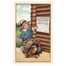 Whitney Thanksgiving Proclamation Come All Ye and Give Thanks Postcard