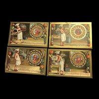 Lot of 4 Thanksgiving  Series 226 ,228,229,231 Angel Chef vintage postcard