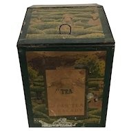 1850s Mercantile Store Bulk Tea Dispenser Tin