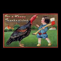 Samson Brothers Gold Gilt Thanksgiving Turkey Series 7043