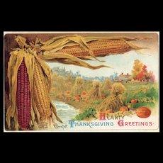 Amazing Artist Signed R VeenFliet  Harvest Thanksgiving Postcard