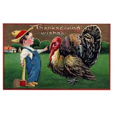 2 of 2 Samson Brothers Series 7043 Vintage Thanksgiving Postcard