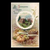 Beautiful 1911 John Winsch vintage Thanksgiving Bounty vintage postcard