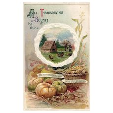 Beautiful 1911 John Winsch vintage Thanksgiving Bounty vintage postcard