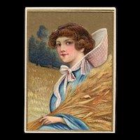 Nash Thanksgiving Vintage Postcard Beautiful Woman T-33
