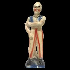 Scarce Patriotic Vintage Uncle Sam Chalkware Carnival Doll Figurine
