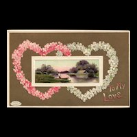 Davidson Brothers  Series 161 To My Love Valentine vintage Postcard