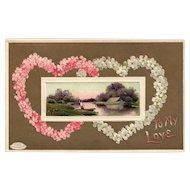 Davidson Brothers  Series 161 To My Love Valentine vintage Postcard