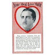Vintage Arcade Machine Card Your Ideal Love Mate Future Fortune Souvenir